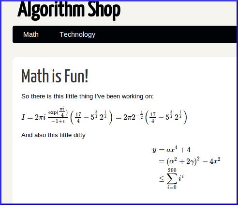 Good Looking Math